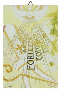 Copertina di 'Quadretto Sette Doni dello Spirito Santo - 14 x 10 cm'