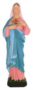 Copertina di 'Statua da esterno del Sacro Cuore di Maria in materiale infrangibile, dipinta a mano, da circa 40 cm'