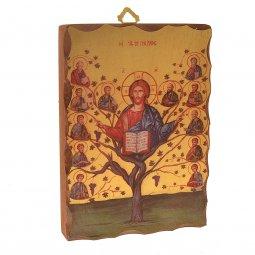 """Copertina di 'Icona in legno massello """"Albero della vita"""" - dimensioni 14x9,5 cm'"""