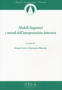 Copertina di 'Modelli linguistici e metodi dell'interpretazione letteraria'