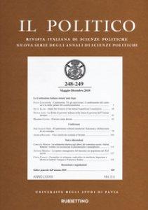 Copertina di 'Il politico. Rivista italiana di scienze politiche (2018). Vol. 248-249'