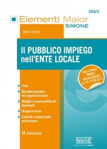 Copertina di 'Il Pubblico Impiego nell'Ente Locale'