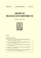 Malati e cura degli ammalati nei sermoni ad status di Gilberto di Tournai  (pp. 9-23) - Aleksander Horowski, OFMCap.