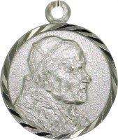 Medaglia tonda in argento 925 cm 1,6 - San Giovanni Paolo II