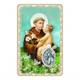 """Copertina di 'Card """"Sant'Antonio"""" con preghiera e medaglia - (10 pezzi)'"""