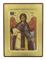 Icona San Gabriele Arcangelo, produzione greca su legno - 24 x 18 cm