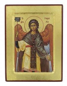 Copertina di 'Icona San Gabriele Arcangelo, produzione greca su legno - 24 x 18 cm'