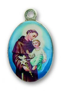 Copertina di 'Medaglia in metallo piastra cm. 22 x 16 raffigurante Sant Antonio'