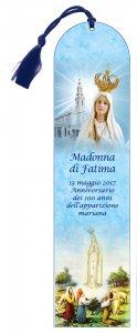Copertina di 'Segnalibro Madonna di Fatima a forma di cupola con fiocchetto (italiano) - 5,5 x 22,5 cm'