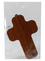"Immagine di 'Croce in legno azzurra ""Ultima cena"" - altezza 13 cm'"