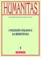 Humanitas. 1/2015: I filosofi italiani e la Resistenza