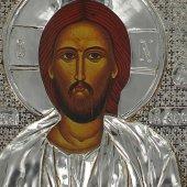 """Immagine di 'Icona """"Gesù Maestro"""" con riza resinata - cm 12x8'"""