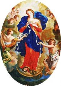 Copertina di 'Adesivo resinato per rosario fai da te misura 3 - Madonna che scioglie i nodi'
