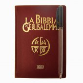 Immagine di 'La Bibbia di Gerusalemme (copertina in pelle color rosso bordeaux e taglio oro)'