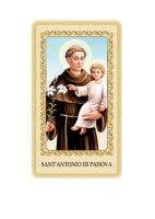 """Immaginetta plastificata con preghiera """"Sant'Antonio di Padova"""" - dimensioni 6x10 cm"""