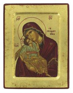 Copertina di 'Icona Madonna della Tenerezza, produzione greca su legno - 18,5 x 14,5 cm'