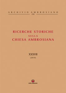 Copertina di 'Ricerche storiche sulla Chiesa Ambrosiana XXXVII (2019)'