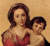 Immagine di 'Tavola Madonna del Murillo stampa su legno - 28 x 21 cm'