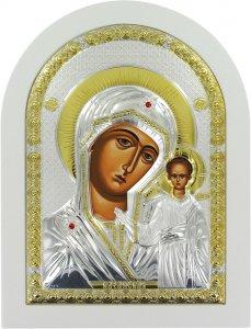 Copertina di 'Icona Madonna di Kazan Greca a forma di arco con lastra in argento - 10 x 14 cm'