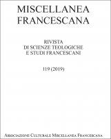 Miscellanea Francescana n. III-IV/2019