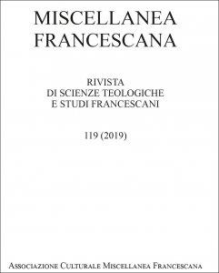 Copertina di 'Miscellanea Francescana n. III-IV/2019'