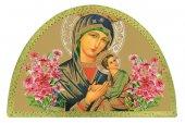 Tavola Madonna di Perpetuo Soccorso stampa su legno ad arco - 18 x 12 cm