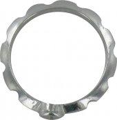 Immagine di 'Rosario anello in argento 925 con 10 incisioni misura italiana n°18 - diametro interno mm 18,5 circa'