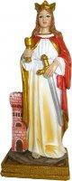Statua Santa Barbara da 12 cm in confezione regalo con immaginetta di  su LibreriadelSanto.it