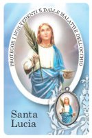 Card Santa Lucia della guarigione in PVC - 5,5 x 8,5 cm - italiano