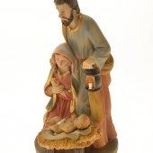 Immagine di 'Statua Sacra Famiglia in resina dipinta a mano (cm. 15)'