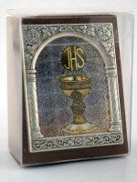 """Immagine di 'Icona in lamina d'argento """"Il Corpo di Cristo"""" - dimensioni 6,5x5,2 cm'"""