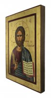Immagine di 'Icona Cristo Pantocratore con libro aperto, produzione greca su legno - 32 x 24,5 cm'
