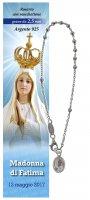 Bracciale decina Madonna di Fatima - diam. grani mm 2,5