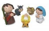 Immagine di 'Presepe per Bambini: Natività 10 personaggi in resina da 8 cm'