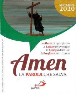 Copertina di 'Amen. La parola che salva. Settembre 2020'