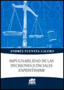 Copertina di 'Impugnabilidad de las decisiones judiciales expeditissime'