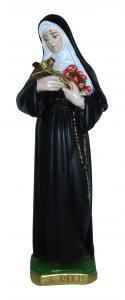 Copertina di 'Statua Santa Rita in gesso madreperlato dipinta a mano - 30 cm'