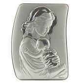 """Quadretto in legno e argento """"Madonna col bambino"""" - dimensioni 16x12 cm"""