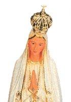 Immagine di 'Statua Madonna di Fatima dipinta a mano con decorazioni color oro e strass (circa 22 cm)'