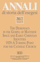Annali di storia dell'esegesi (2019). Vol. 36/2