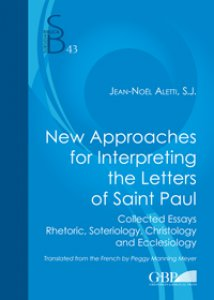 Copertina di 'New approaches for interpreting the letters of saint Paul'