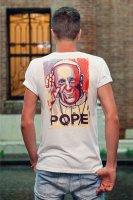 Immagine di 'T-shirt Papa Francesco blu e rossa - taglia M - uomo'