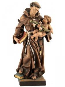 """Copertina di 'Statua in legno colorato """"Sant'Antonio di Padova"""" - altezza 30 cm'"""