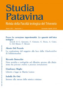 Copertina di 'Studia Patavina 2018/1'
