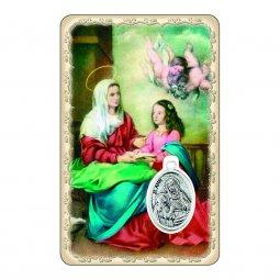 """Copertina di 'Card """"Sant'Anna"""" con preghiera e medaglia - (10 pezzi)'"""