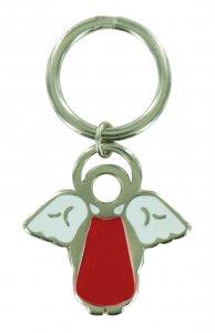 Copertina di 'Portachiavi a forma di angioletto con smalto rosso - 4 cm'