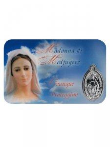 Copertina di 'Card medaglia Madonna di Medjugore (10 pezzi)'