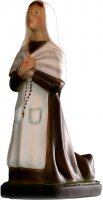 Statua Santa Bernardetta in gomma dipinta a mano cm 24