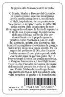 Immagine di 'Card Madonna del Carmelo in PVC - 5,5 x 8,5 cm - italiano'