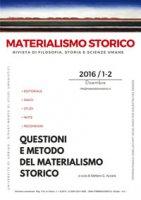 Materialismo storico. Rivista di filosofia, storia e scienze umane (2016). Vol. 1-2